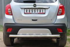 Защита заднего бампера D63 (дуга) для Opel Mokka 2013-