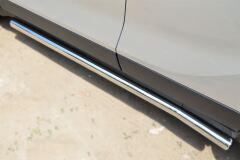 Пороги труба D63 (вариант 3) для Opel Mokka 2013-