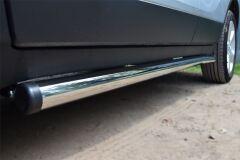 Пороги труба D63 (вариант 2) для Opel Mokka 2013-