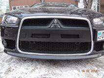 Воздуховоды (ноздри) в передний бампер Mitsubishi Lancer 10 EVO-style (рестайлинг 2011+)