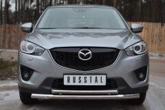 Защита переднего бампера D63(секции) D42(дуга) для Mazda CX-5 2011-