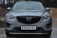 Защита переднего бампера D42 (секции) для Mazda CX-5 2011-
