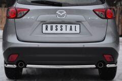 Защита заднего бампера уголки D42 для Mazda CX-5 2011-