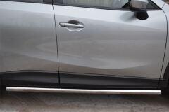 Защита порогов D63 (вариант 3) для Mazda CX-5 2011-