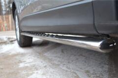 Защита порогов 75х42 с проступью для Mazda CX-5 2011-