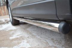 Защита порогов D63 (вариант 2) для Mazda CX-5 2011-