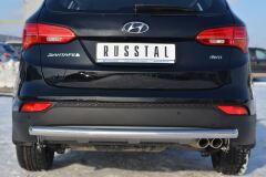 Защита заднего бампера D63 (дуга) для Hyundai Santa Fe 2012-2015