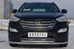 Защита переднего бампера D63 ( секции) / D63 (дуга) для Hyundai Santa Fe 2012-2015
