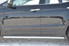 Пороги труба D63 (вариант 2) для Hyundai Santa Fe 2012-2015
