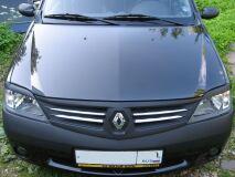 Накладки на фары (реснички) для Renault Logan