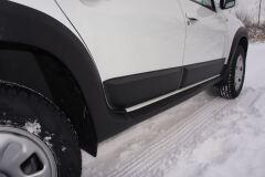 Накладки на двери (молдинги) 4 шт. матовые для Renault Duster