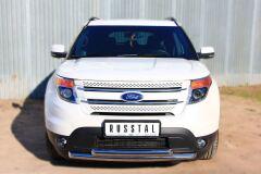 Защита переднего бампера D63 / D63 (дуга) для Ford Explorer V 2012-