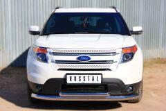 Защита переднего бампера D76 (секции) D63 (дуга) для Ford Explorer V 2012-