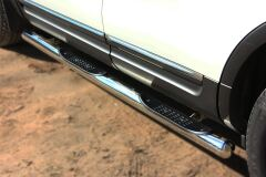 Пороги труба D76 с накладкой (вариант 3) для Ford Explorer V 2012-