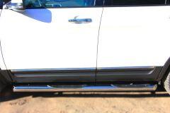 Пороги труба D76 с накладкой (вариант 1) для Ford Explorer V 2012-