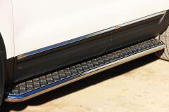 Пороги труба D42 с листом для Ford Explorer V 2012-