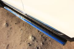 Пороги труба D120X60 с проступью для Ford Explorer V 2012-