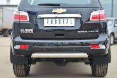 Защита заднего бампера 75х42 (дуга) для Chevrolet Trailblazer 2012-