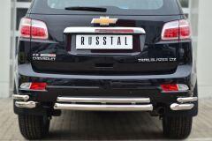 Защита заднего бампера уголки D63 (секции) D42 (секции) для Chevrolet Trailblazer 2012-