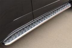 Пороги труба D42 с листом для Chevrolet Trailblazer 2012-