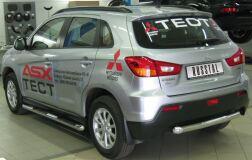 Защита заднего бампера D63 для Mitsubishi ASX 2010-2011