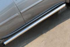 Пороги труба D76 (вариант 2) для Mitsubishi L200 2014