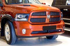 Накладки на передние фары (реснички) для Dodge RAM 2009-2017