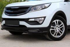 Тюнинг обвес переднего бампера Kia Sportage III 2010-2015
