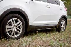Тюнинг обвес порогов Kia Sportage III 2010-2015