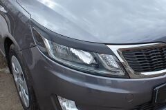 Накладки на передние фары (реснички) Kia Rio 3, Sedan, 2011 - 2015