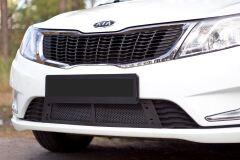 Защитная сетка решетки переднего бампера Kia Rio 3, Sedan, 2011 - 2015