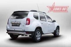 """Защита задняя """"волна"""" d60 на Renault Duster 2012-2015"""