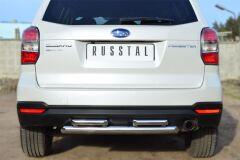 Защита заднего бампера D63 (дуга) D42х2 (дуга) для Subaru Forester 2013-