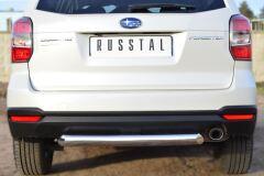 Защита заднего бампера D76 (дуга) для Subaru Forester 2013-