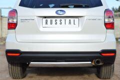 Защита заднего бампера 75х42 (дуга) для Subaru Forester 2013-