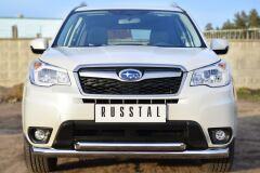 Защита переднего бампера D76 (секции) D63 (дуга) для Subaru Forester 2013-
