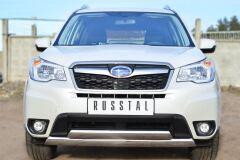 Защита переднего бампера 75х42 (дуга) 75х42 (дуга) для Subaru Forester 2013-