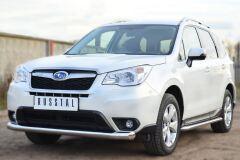 Защита переднего бампера D76 (секции) для Subaru Forester 2013-