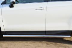 Пороги труба D63 (вариант 3) для Subaru Forester 2013-