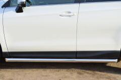 Пороги труба D63 (вариант 1) для Subaru Forester 2013-