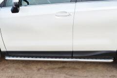 Пороги труба D42 с листом для Subaru Forester 2013-