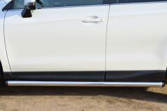 Пороги труба D63 (вариант 2) для Subaru Forester 2013-