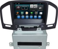 """Штатная магнитола CarMedia QR-8035-br для OPEL / BUICK Insignia дорестайл, взамен CD300 и CD400, коричневый 2009–2013 8"""""""