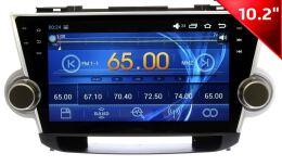 Штатная магнитола Wide Media WM-1001HD для Toyota Highlander 2007 - 2014  на Android 4 (для авто без монитора)
