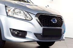 Зимняя заглушка решетки переднего бампера Datsun on-DO 2014-