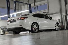 Клыки (накладки) заднего бампера SkyActivSport для Mazda 6 2013-