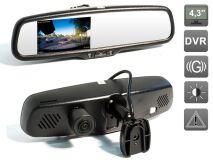Зеркало заднего вида со встроенным видеорегистратором и автозатемнением монитора AVIS Electronics AVS0488DVR