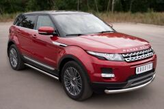 Пороги труба D63 (вариант 3) для Land Rover Range Rover Evoque Prestige u Pure 2011-