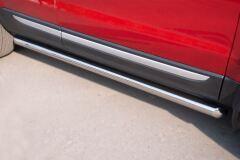 Пороги труба D63 (вариант 1) для Land Rover Range Rover Evoque Prestige u Pure 2011-
