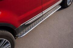 Пороги труба D42 с листом для Land Rover Range Rover Evoque Prestige u Pure 2011-